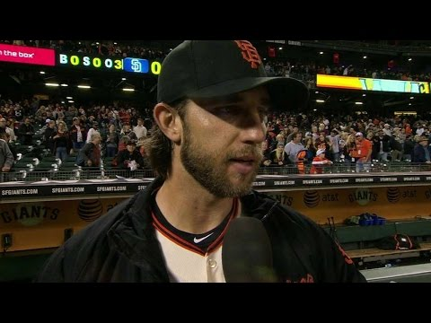 SD@SF: Bumgarner discusses third career one-hitter