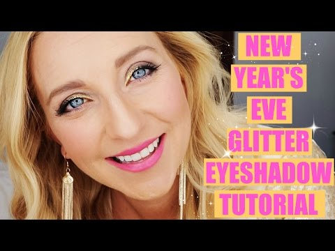 Easiest New Year's Eve Glitter Eyeshadow Makeup Tutorial Ever!