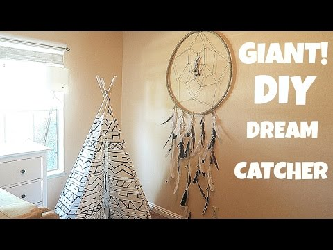 HOW TO MAKE A EASY GIANT DREAM CATCHER!