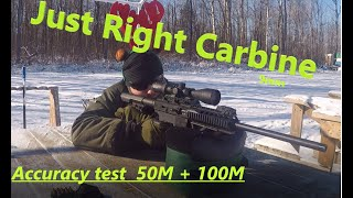 Just Right Carbine Accuracy Test 9mm Christmas Special!