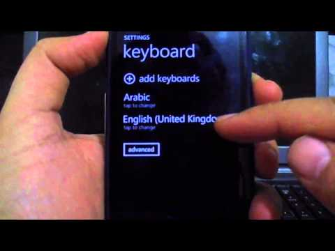 How to add Arabic language in WindowsPhone 8 keyboard