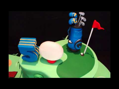 Snoozing on the Golf Course !!! 50th Birthday Cake