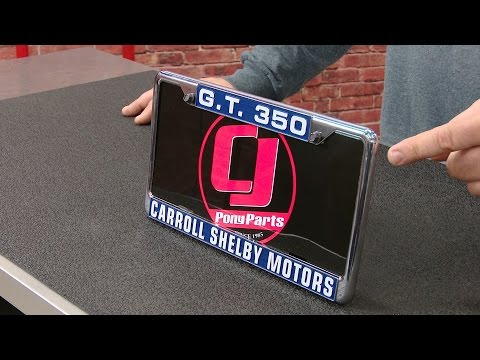 Mustang Scott Drake License Plate Frame With Shelby G.T. 350 Logo