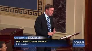 Sen. Chris Murphy speaks to his son during Gun Violence Filibuster (C-SPAN)