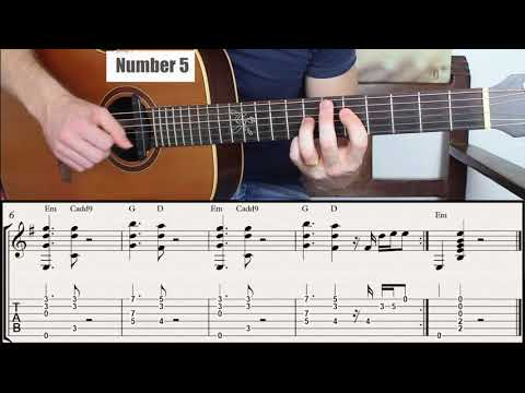 Same Chord Progression Played in 7 Different Ways. E minor Key!