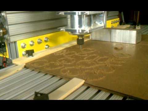 Cutting hardboard...