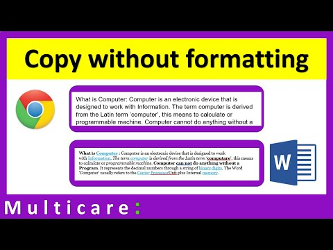 How to copy text from internet into word without losing formatting
