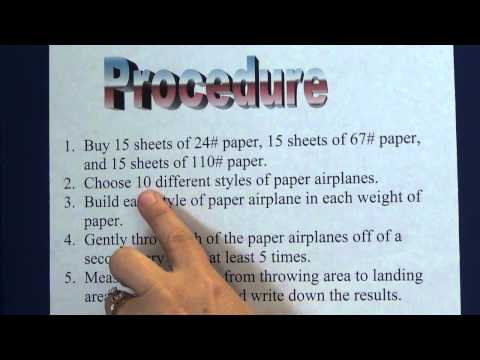 How To Make A Procedure List For A Science Project / How To Repair