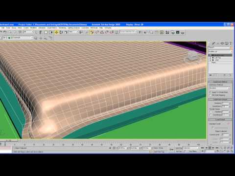 ARCHITECTURAL TUTORIAL on 3ds Max  part 3   Bed