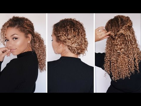 3 Super Easy Hairstyles for 3b/3c Curly Hair | Bella Kurls Extensions | Ashley Bloomfield