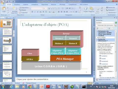 Exemple d'application Client Serveur CORBA Master M2 SID 06 01 2014