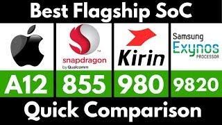 [Hindi]-Apple A12 Bionic vs Snapdragon 855 vs Kirin 980 vs SM Exynos 9820   Best Flagship SoC