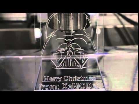 Merry Christmas from XeMODeX! CNC Machine Playing the Star Wars Theme