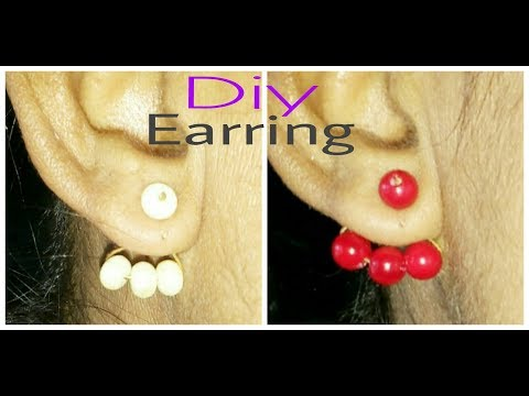 How To Make Double Sided Pearl Earring/Jecket Earring At Home