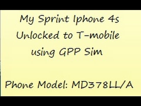 Troubleshooting my Sprint Iphone 4s unlocked to T-Mobile with GPP sim. iOS 6.1.3 and Model MD378LL/A