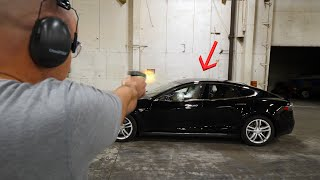 Will a BULLET PROOF Tesla actually stop bullets?