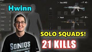Soniqs Hwinn - 21 KILLS - Beryl M762 + Mini14 - SOLO SQUADS! - PUBG