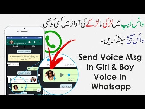 How to change voice on whatsapp | Record Voice Msg in Girl Voice | Whatsapp New Feature