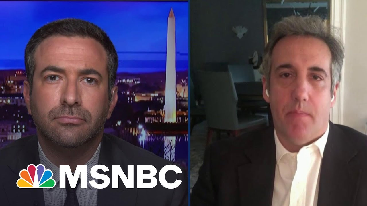 Trump Going Down? NY DA's Key Witness Cohen Says Trump's In Big Trouble | The Beat With Ari Melber