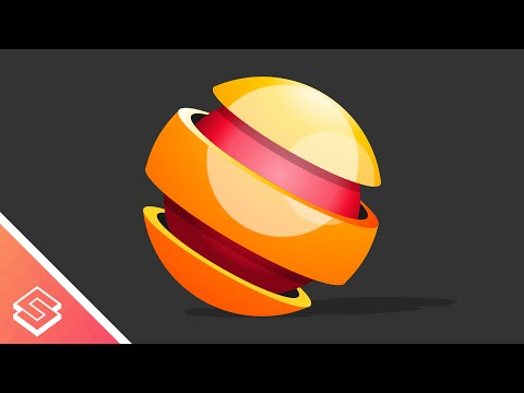 Inkscape Tutorial: Vector 3D Sphere Logo or Icon
