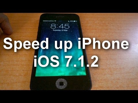 Speed Up iPhone iOS 7.1.2 - Jailbreak Required