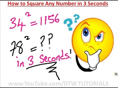 How to Square Any Number in 3 Seconds | Maths Trick