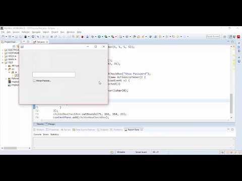 Hide and Show Password in a JTextFIeld & JPasswordField  Java Swing