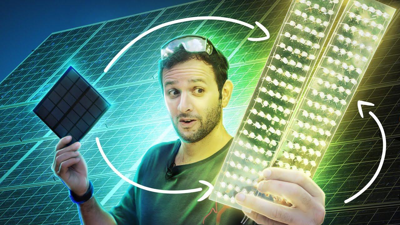 Faça uma PLACA SOLAR usando LEDs COMUNS!