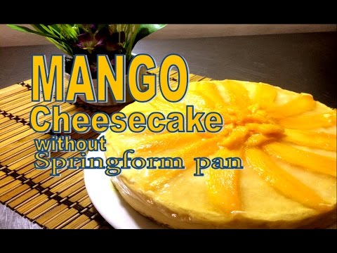 Mango cheesecake without springform pan