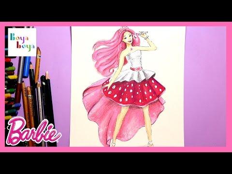Rockstar Barbie Prenses Azra Nasıl çizilir çizim Teknikleri