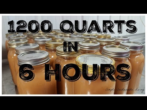 Making 1200 Quarts of Applesauce in 6 Hours