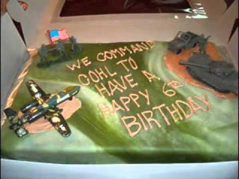 Easy Army cake decor ideas