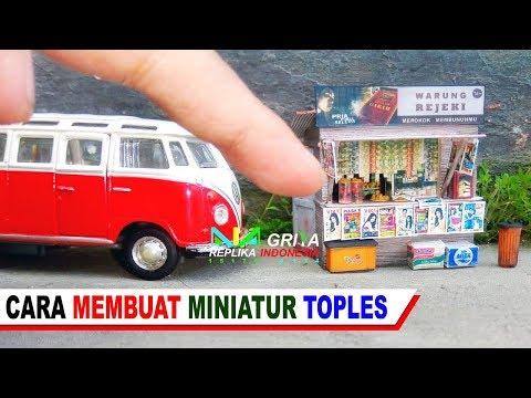 Cara Membuat Miniatur Toples Permen Cantik Utk Diorama & Souvenir