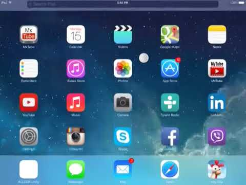 How to find the search bar in Ipad IOS 7