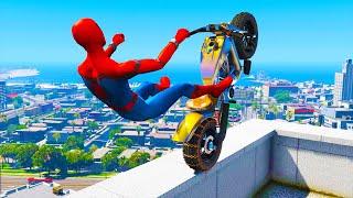 GTA 5 Spiderman Epic Jumps - ( Spider-Man Stunts & Fails )