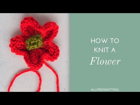 How to Knit a Flower