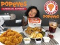 Fried Chicken, Mac & Cheese, Green Beans, Mashed Potatoes, Fries, Sweet Tea - Popeyes Mukbang mp3