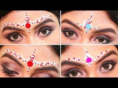 Bengali Bridal chandan design | Wedding Makeup tutorial | Easy Bindi Designs
