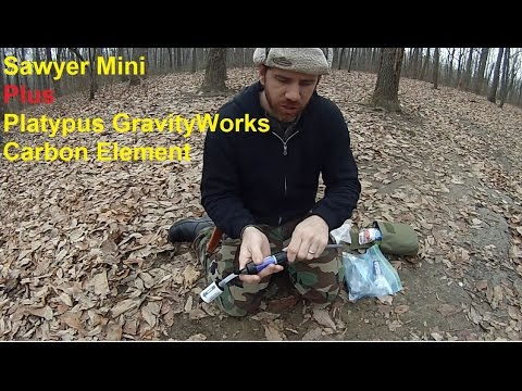 Inexpensive Water Filtration Sawyer Mini and Gravity works Carbon Filters