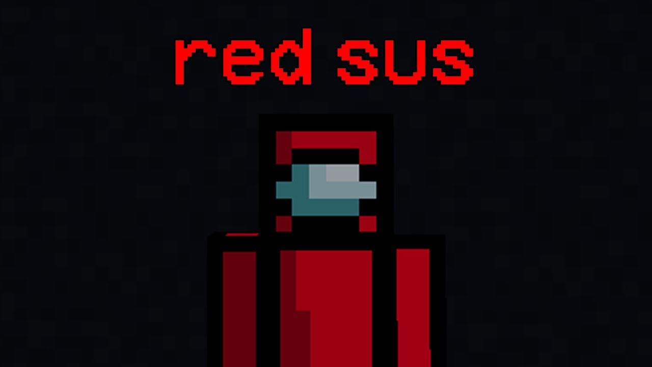 Among Us portrayed by Minecraft