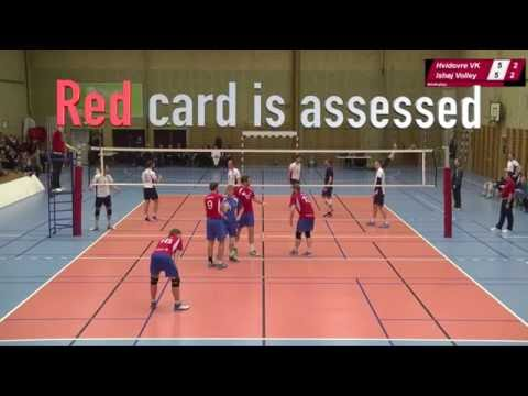 Red card volleyball - Yellow card volleyball - Sanctioning in volleyball