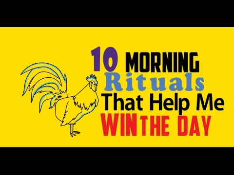 10 Motivating Morning Rituals - Increase Productivity With These Morning Routines