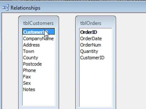 How To Create Access Database Relationships