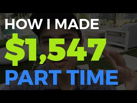 How I've made $1500 in my first month (Part-Time)