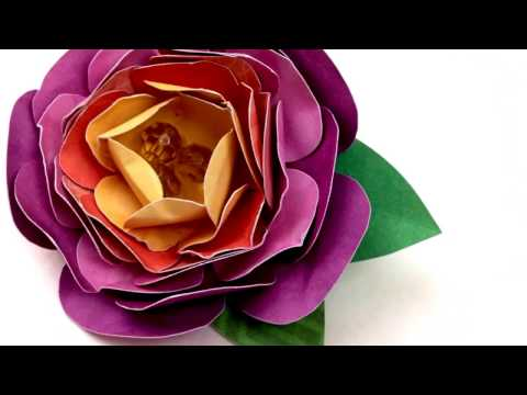 How to make Paper Flower Brooch