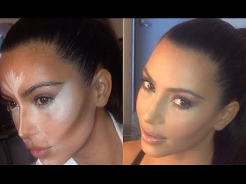 HOW TO CONTOUR AND HIGHLIGHT LIKE KIM KARDASHIAN