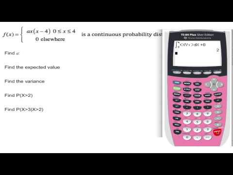 TI-84 Continuous Probability Density Functions