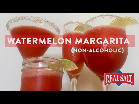 How to Make a Watermelon Margarita | Non alcoholic, No Added Sugar, and using Redmond REAL SALT