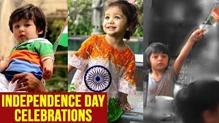 Taimur Ali Khan, AbRAm, Misha Kapoor Waving The National Flag On Independence Day MUST WATCH