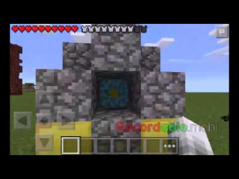 Fazendo portal do NETHER Minecraft pe 0.11.1